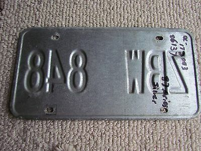 1986 New York ~ Red Statue of Liberty ~ Metal License Plate:  ZBW-848