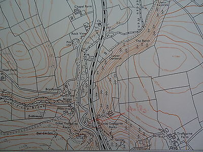"Ordnance Survey 6"" map SM92NE Dyfed 1980 Wolf's Castle, Little Newcastle 2"