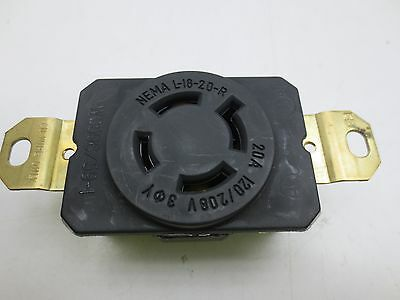 Pass & Seymour L1820-R Turnlok Receptacle 20A 120/280V 2