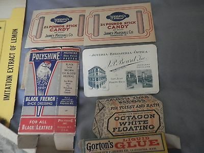 vintage advertising lot boxes booklets labels 10 pieces very