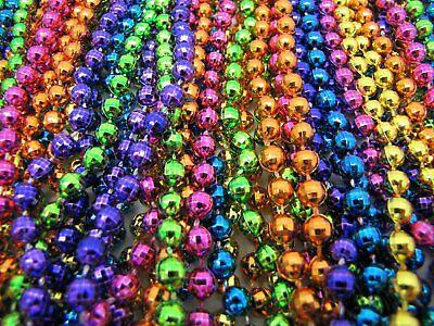 "Mardi Gras Beads Bright Neon Disco 6 Dozen 33"" Parade School Party 72 Necklaces 5"