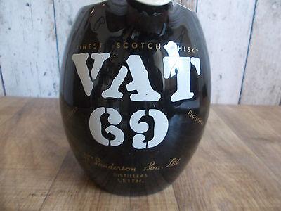 alter Keramik VAT 69 Whisky Krug,Formschöner Whisky Krug,Belgischer Vat 69 Krug 2