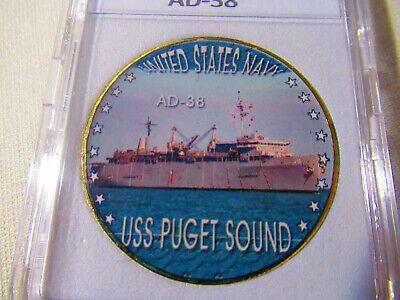 USS PUGET SOUND AD 38 Street Sign us navy ship veteran sailor gift