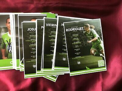 Lotto/Collezione 75 AUTOGRAFI VfL WOLFSBURG-Bundesliga-Cartoline Ufficiale! 2
