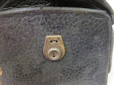 Doctor's Medical Bag Antique Satchel Messenger House Call Bag Leather Linen 8