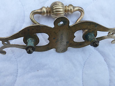Six vintage cast brass drawer pulls old large beautful  SC 6Y0MM23 3