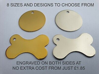 Engraved Dog Tag Personalised Round Bone Id Name Disc Large Small Pet Cat Tags 2
