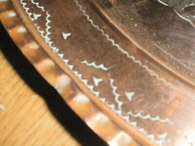 Hand Beaten Vintage Copper Charger 5