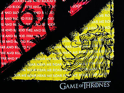 Game of Thrones 3 House Crests and Quotes Stark Lannister Black Mens T-shirt 5