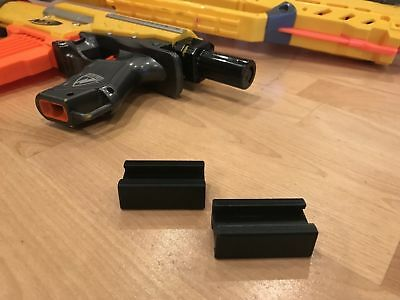2 Pack Nerf Compatible Tactical Rail Connector Joiner, Connect Two Guns Together