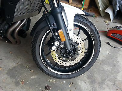 Pearl White Reflective Custom Motorcycle Rim Stripes Wheel Decals