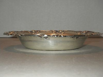 Antique Lily Engraved by Justis and Armiger Co Sterling Silver Master Butter HH
