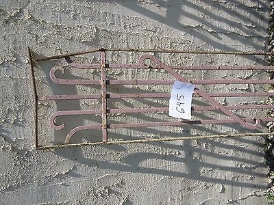 Antique Victorian Iron Gate Window Garden Fence Architectural Salvage Door #645 3
