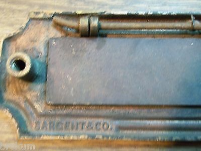 Antique Sargent Heavy Solid Bronze Art Deco Mail Slot Drop-Pass Through W/spring 7