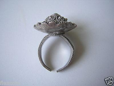 Ring mit Türkis Stein und verstellbarer Ringschiene 6,1 g