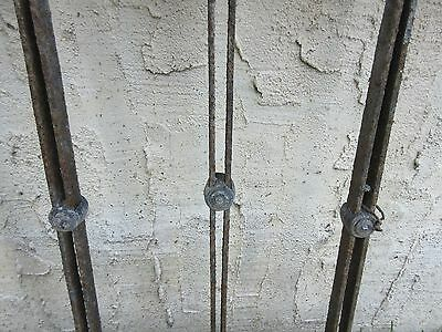 Antique Victorian Iron Gate Window Garden Fence Architectural Salvage Door #114 4