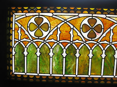 VICTORIAN STAINED GLASS  WINDOW  ca. 1880s 2
