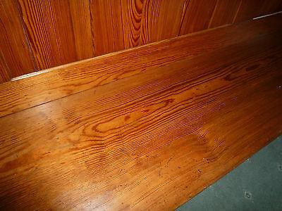 Antique Pitch Pine Fully Restored Church Pew Retaining Origina L Patina 1837 5