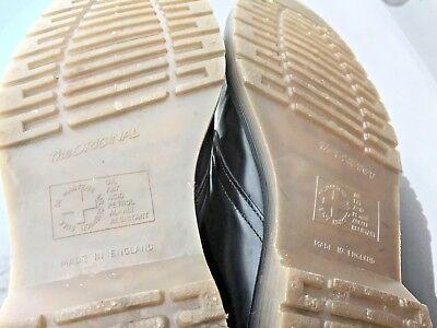 Dr Martens 1462 black leather shoes UK 10.5 EU 45.5 Made in England 9