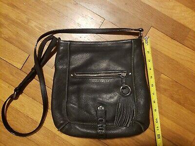 Womens Black Flap Shoulder Bag With Tassel NEW Bestkee Crossbody Leather Purse