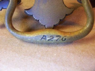 (10) Antique Brass Drawer Pulls / Handles -- Solid Brass -- W/ Original Screws 9