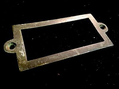 Antique Heavy brass name plaques , apothecary Draw Dresser Handle Knocker Bronze 6