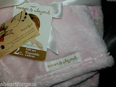 BLANKET /& SECURITY OWL COMBO LOT 2 BABY LET/'S BE FRIENDS GEO GIRL PINK CORAL NEW