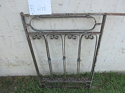Antique Victorian Iron Gate Window Garden Fence Architectural Salvage Door #114 5