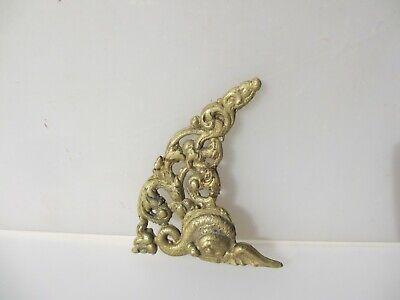 Vintage Brass Ormolu Hardware Top French Cherub Mount Old Antique Koi Fish 3