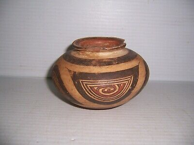 "Pre-Columbian Panama Cocle Pottery Polychrome Olla Jar 5"" x 3 1/4"" 3"