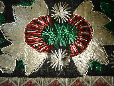 #071  Beautiful Vintage Hand-Embroidered Table Runner 39''/15''(100cm/39cm) 7