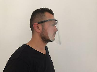 Safety Full Face Shield Clear Flip-Up Visor Transparent Medical Dental Glass 5