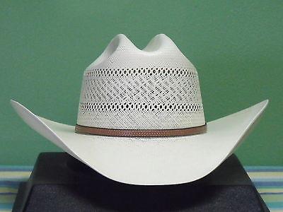 75f27a577acc3 ... Resistol George Strait Colt 10X Shantung Panama Straw Cowboy Western Hat  2
