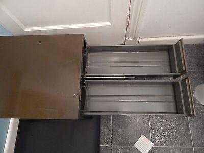 Art Deco Art Metal Green Index Card 4 drawer filer very heavy solid metal Vintag 3