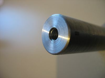 """1"""" Dia   Steel Shaft / Rod / Bar -  Tapped 1/2"""" - 20 both ends    6"""" Long  1 Pc 3"""