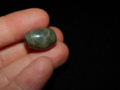 Pre-Columbian Green Jade Pendant Bead, Authentic 4