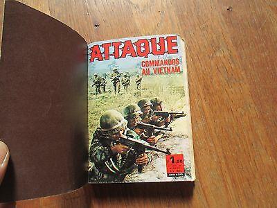 PETIT FORMAT ROMAN PHOTOS RELIURE AUDACE MAGAZINE 7 ATTAQUE 3 + 7 1967 7 distein