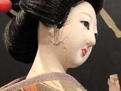 Antique Japanese Ningyo Doll With Glass Eyes, Edo? 5