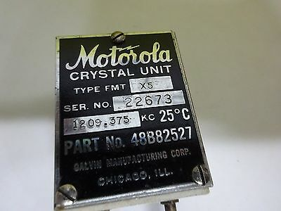 Antique Quartz Radio Crystal U.s. 1944 Motorola Wwii Frequency Control #W7-56 2
