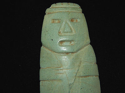Pre-Columbian Large Anthropomorphic Axe God Celt, Central America, Authentic 2