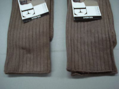 ddb475e6c8d ... NWT Women s Hue Silky Rib Trouser Socks One Size Mink 3 Pair  160J 2