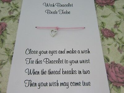 Hen Party Wish Bracelet Message Friendship Gift Pink Anklet Bride Bridesmaid* 5