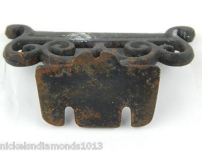 "Antique Rustic Cast Iron 5"" Mountable Boot Scrape Scrolling Primitive 4"