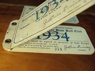 1934 Yankees White Sox Ticket Babe Ruth Home Run HR #702 Lou Gehrig Triple Crown 9