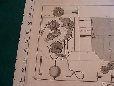 """Original engraving 1760's 10 1/2 x 16"""" DEVELOPEMENT DE LA REPETITION ORDINAIRE 2"""