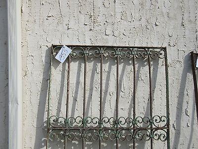 Antique Victorian Iron Gate Window Garden Fence Architectural Salvage Door #355 2