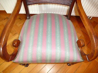 Ausgefallener alter Sessel Spätbiedermeier um 1850 3