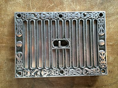 "OPEN & CLOSE SLOTTED AIR VENT VICTORIAN ANTIQUE KENRICK HIT & MISS 9x6"" ~ AV4po 2"