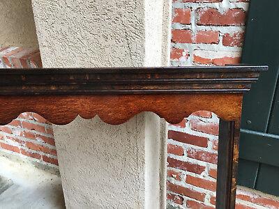 Antique English Carved Tiger Oak Plate Platter Wall Rack Display Shelf Kitchen 5