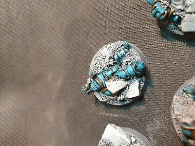 40mm Runic resin bases x5 Warhammer 40,000 40k Space Wolves